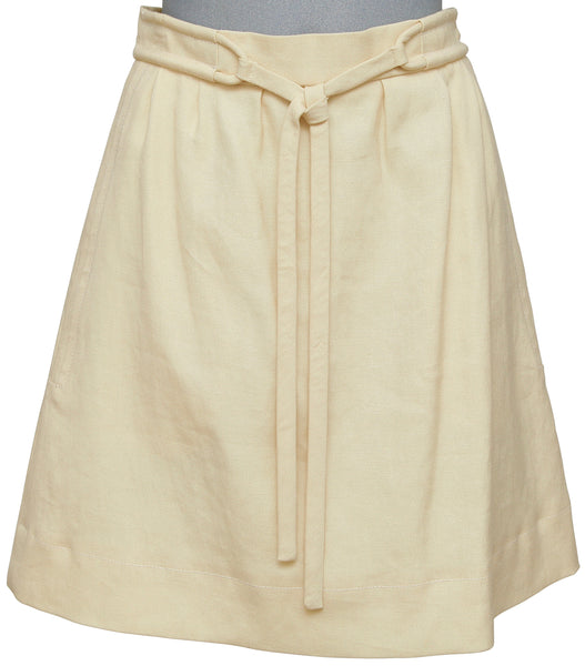 CHLOE Skirt A-Line Yellow Silk Clothing Dress Sz 36 Spring 2007 - Evesherfashion