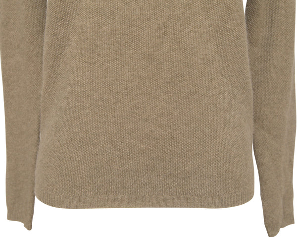 CHLOE Sweater Knit Top Shirt Long Sleeve Cashmere Mossy Green V-Neck XS - Evesherfashion