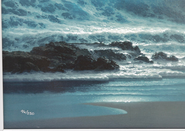 "ROY TABORA Print Giclee Canvas In The Solace Of The Night 27"" x 36"" Sign 96/250 - Evesherfashion"