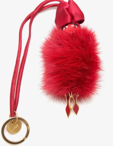 CHRISTIAN LOUBOUTIN Bag Charm RIVE GAUCHE DOLL Key Ring Ltd Edition - Evesherfashion