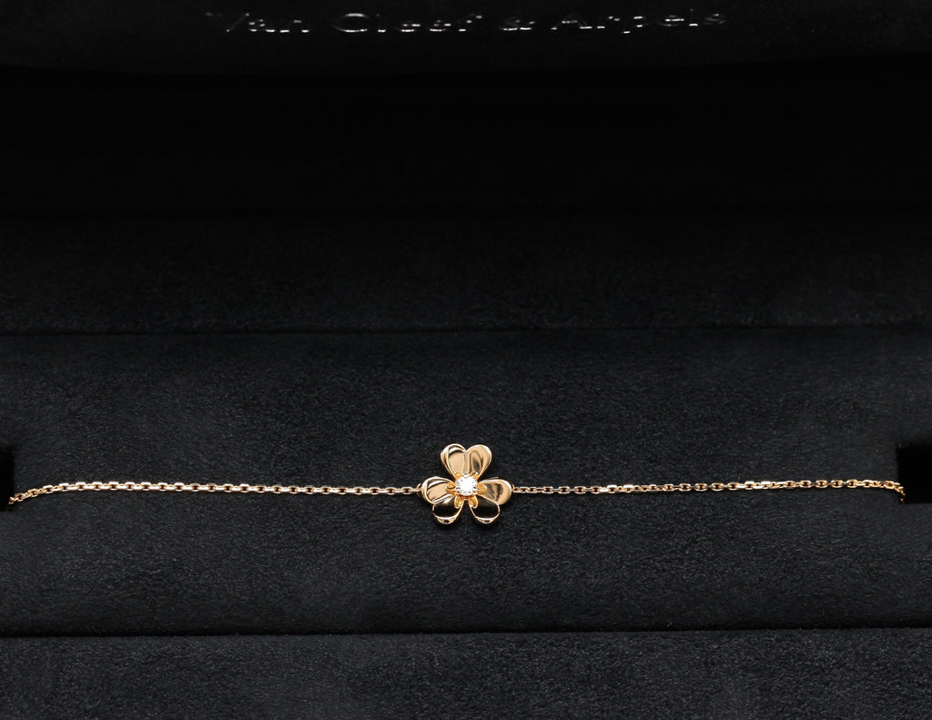 VAN CLEEF & ARPELS Gold Bracelet MINI FRIVOLE Sweet Diamond Yellow BNIB - Evesherfashion