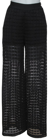 CHANEL Black Lace Pant High Rise Zipper Sz M Spring 2017 17P Retail $2,500 - Evesherfashion