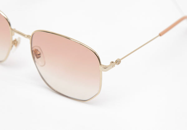 GUCCI Sunglasses Octagonal Gold Orange Gradient GG0396S - Evesherfashion