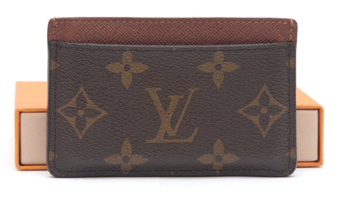 LOUIS VUITTON Monogram Card Holder ARMAGNAC LV Coated Canvas Brown Leather - Evesherfashion