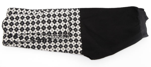 CHANEL Tights Pant Legging Black White Argyle Sz S Edinburgh Pre-Fall 2013 BNWT - Evesherfashion