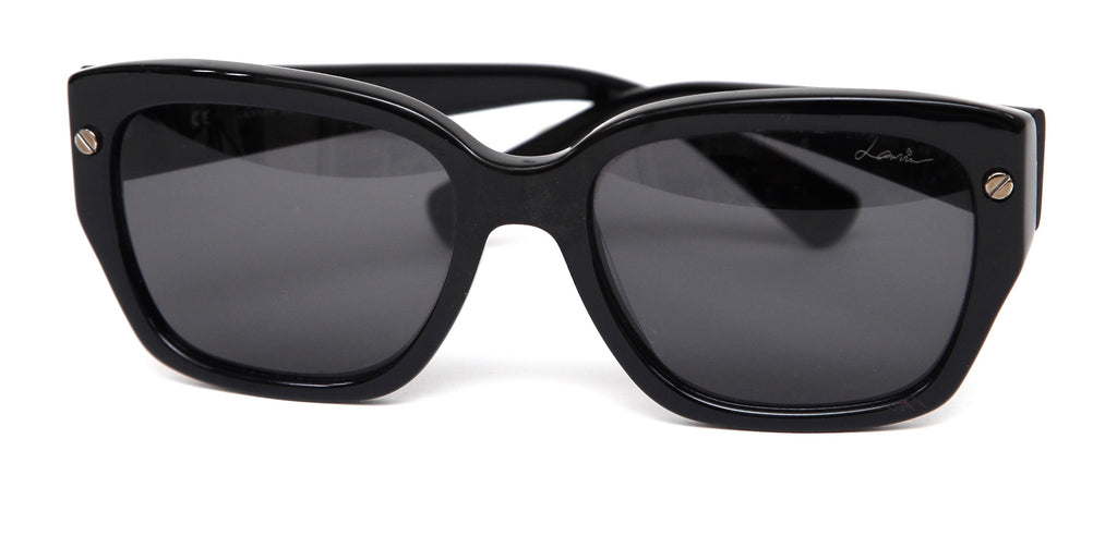 LANVIN Black Sunglasses SCREW DECAL Silver HW SLN 503 - Evesherfashion