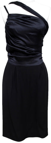 CHRISTIAN DIOR Black Dress Silk Wool Sleeveless Evening Cocktail F 38 US 6 - Evesherfashion