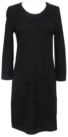 CHANEL Black Dress Knit Sweater Long Sleeve 2011 Pre-Fall Sz 38 - Evesherfashion