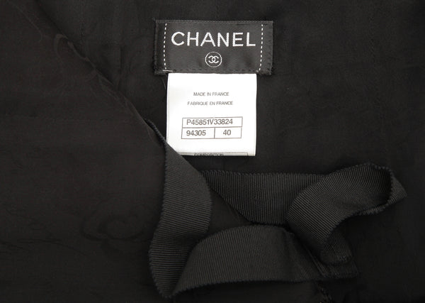 CHANEL Black Mesh Jumpsuit Pant Top RUNWAY Sz 40 13P Spring 2013 - Evesherfashion