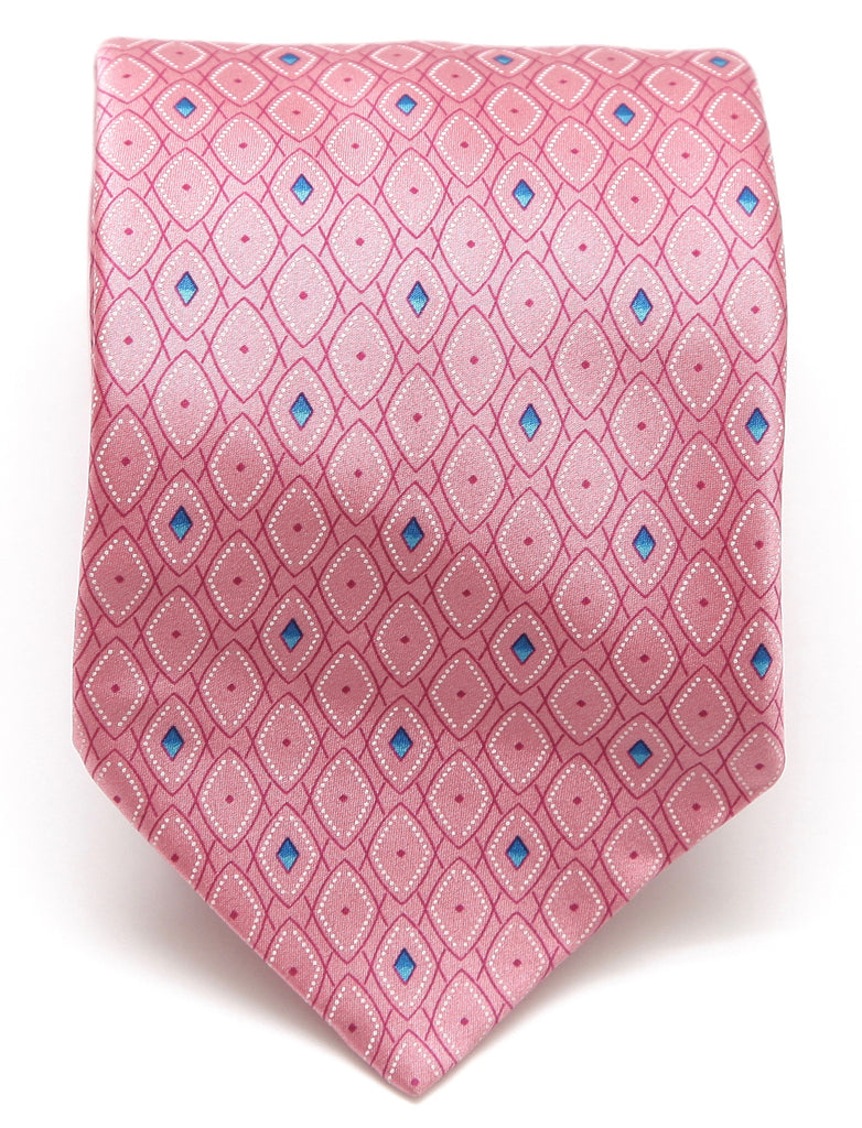 BRIONI Silk Tie Necktie Pink Blue White - Evesherfashion