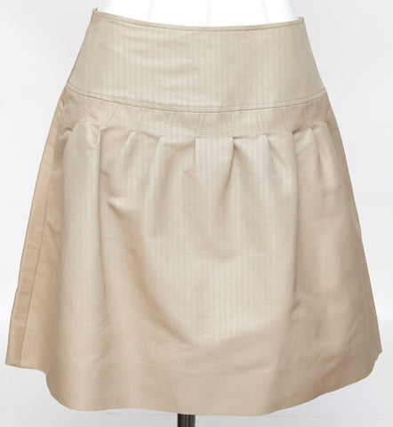 VALENTINO Skirt Beige A-Line Above Knee Cotton Silk Sz 4 BNWT $980 - Evesherfashion