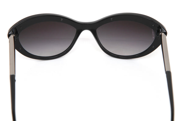 CHANEL Black Sunglasses CAT EYE Silver Acetate Frame Gradient Lens S8533 - Evesherfashion