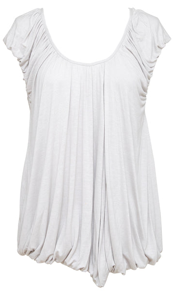 STELLA MCCARTNEY Tunic Top Blouse Sleeveless Grey Scoop Neck Sz 42 - Evesherfashion