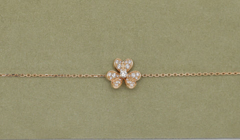 VAN CLEEF & ARPELS Yellow Gold 18k Mini Frivole Sweet Diamond Bracelet - Evesherfashion
