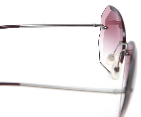 CHANEL Sunglasses Rimless Gradient Lens Violet Gunmetal 4220 C1083P 2N - Evesherfashion