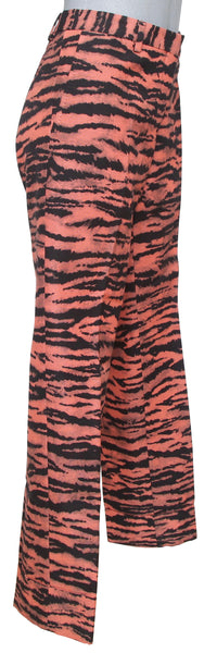 DRIES VAN NOTEN Pant Straight Leg Print Black Peach Sz 36 NWT - Evesherfashion