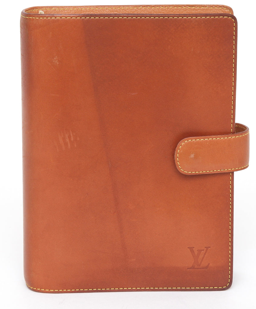 LOUIS VUITTON Leather NOMAD Agenda Day Planner Brown Cover MM - Evesherfashion
