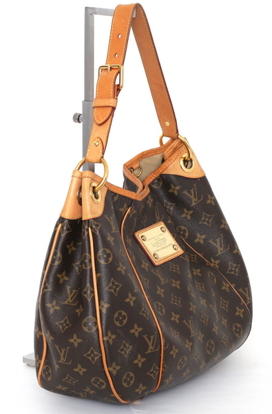 LOUIS VUITTON Monogram GALLIERA PM Canvas Leather Shoulder Bag Gold HW - Evesherfashion
