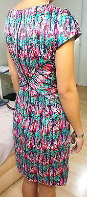 ZAC POSEN Dress Silk Multi Color Cap Sleeve Clothes Sz 8 DO PEEK! - Evesherfashion
