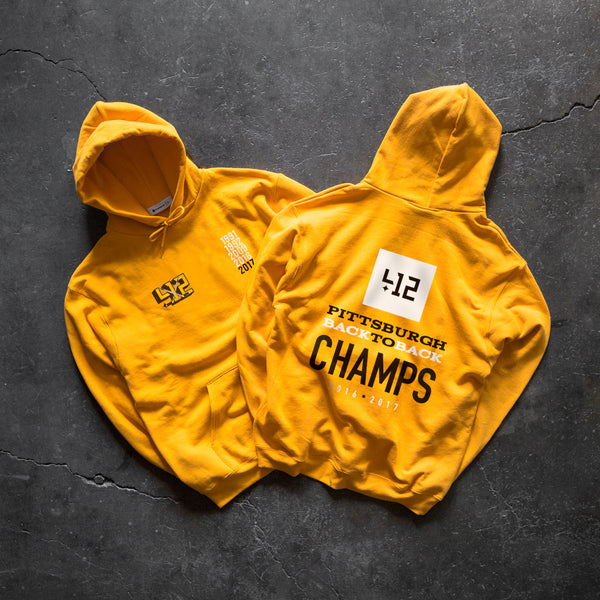 412 Back To Back Pullover Hood - Gold