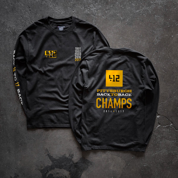 412™ Back To Back L/S Tee - Black - Pre-order Closed