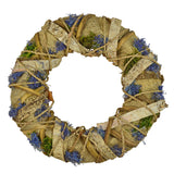 11.8 in. Dia. Decorative Rustic Lavender Inspired Jute Accent Wreath