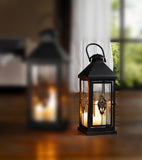 Medium 19 in. Metal European-style Hanging Candle Lantern