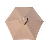 Replacement Umbrella Canopy Cover for 6.5 ft 6 Ribs Patio Market Umbrella (Canopy Only) - Taupe