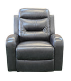 Contemporary Top Grain Leather Match Power Lift Recliner Chair - Black