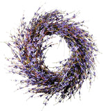 Westcharm Faux Dried Lavender Floral Door Wreath Natural for Fall Front Door or Indoor Home Decor