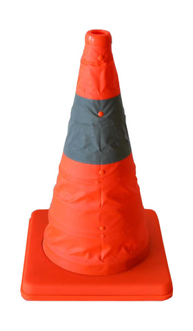 16 in Collapsible Pop-Up Sport / Safety / Traffic Cone, Red