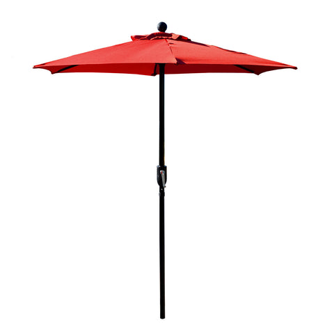 Patio Umbrella Outdoor Table Umbrella with 6 Sturdy Ribs and Crank 6.5 ft, Red Umbrella
