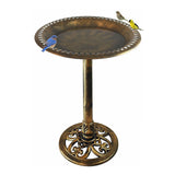 Bronze Resin Birdbath - Pedestal Birdbath for Yard or Garden