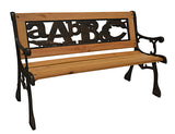ABC Junior Park Bench -- Cast Iron Kids Park Bench With Iron Back