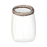 Decorative Cement Vase with Round Top Square Base, Large