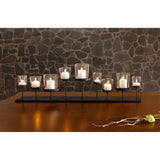 Pedestal Candle Centerpiece w/ Nine Metal Candle Holders