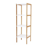 Two Tone 4-Tier Square Tower, Storage Rack, Shelving Unit