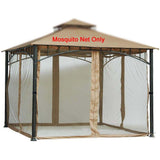 Replacement Mosquito Netting for Gazebo Size 10 ft x 12 ft (Gazebo Mosquito Net Only)