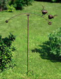 Metal Love Birds Spinning Balancer Stake / Garden Wind Spinner Ornament