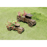 26 in. Long Wooden Pickup Truck Planter - Medium