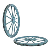 30 in Wooden Wagon Wheels - Decorative Wall Decor, Set of Two--BLUE