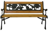 Junior Safari Park Bench -- Cast Iron Kids Park Bench With Resin Back