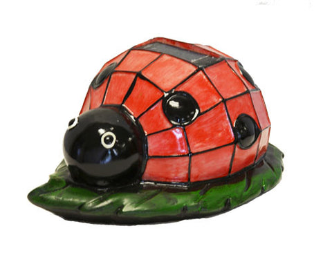 Solar Lighted Ladybug Accent Light -- Landscape Ornament