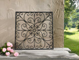 Metal Square Grapevine Scroll Wall Art