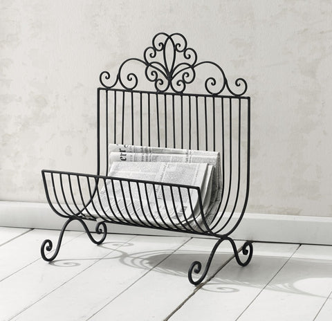 Free Standing Metal Magazine Rack, Newspaper Stand