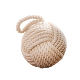 6 inch Dia. Cream Rope Knot Door Stopper, Window Wedge, Bookend