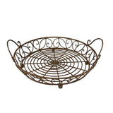 13 in Pie Carrier - Decorative Metal Pie Carrier - Kitchen Storage Basket