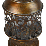 12.5 in. Moroccan-style Hand Held Metal Candle Lantern