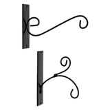 Metal Wall Hangers, Set of Two, for Lanterns,Feeders,Planters,Chimes,Ornaments