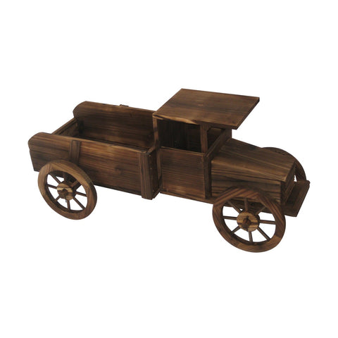 37 in. Long Wooden Pickup Truck Planter - Large